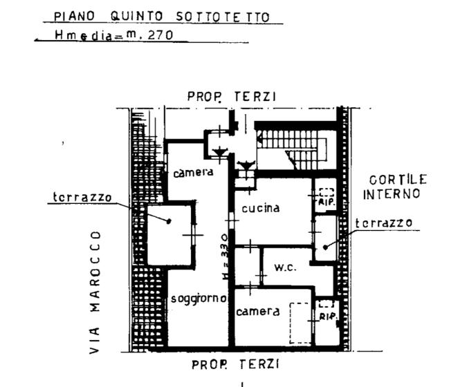 Trilocale in vendita, via Pietro Marocco  14, Pasteur, Milano