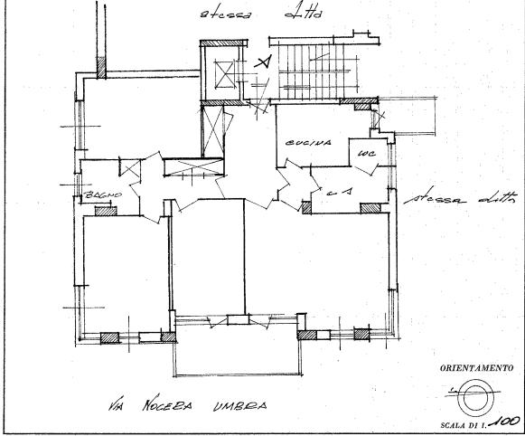 Appartamento in vendita, via Nocera Umbra  178, Appio Latino, Roma