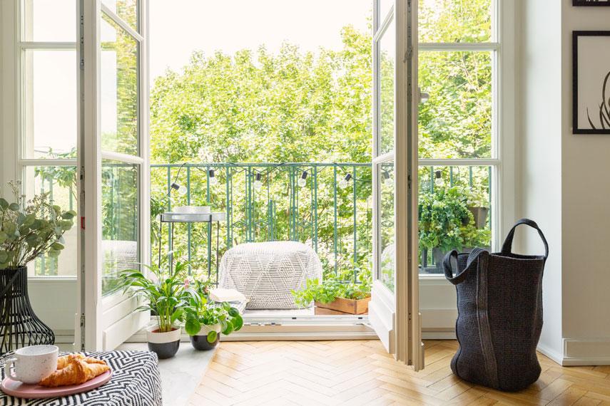 Appartamento molto luminoso con balcone