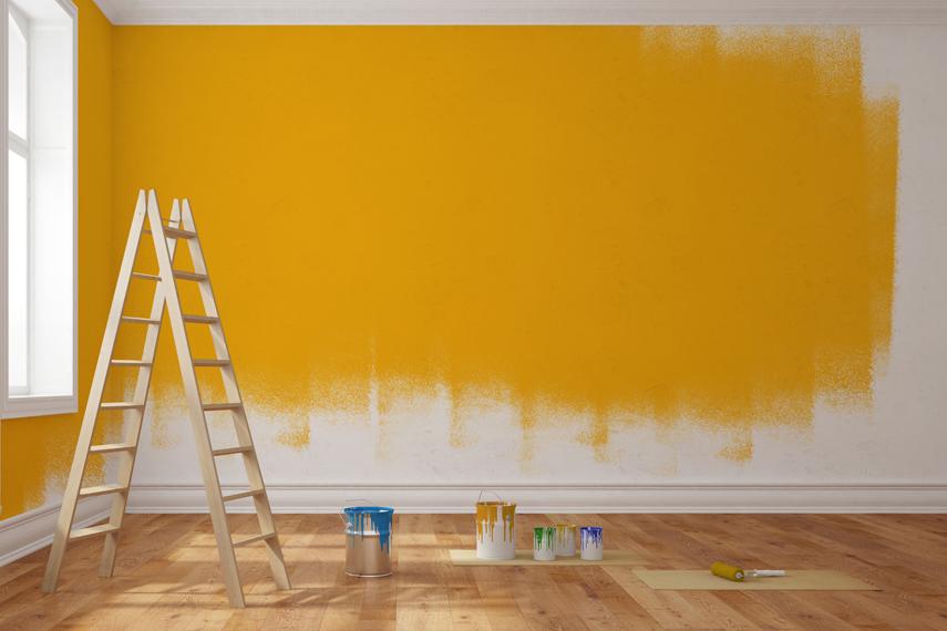 Lavori di pittura in un appartamento