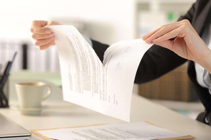 Annullamento di un contratto