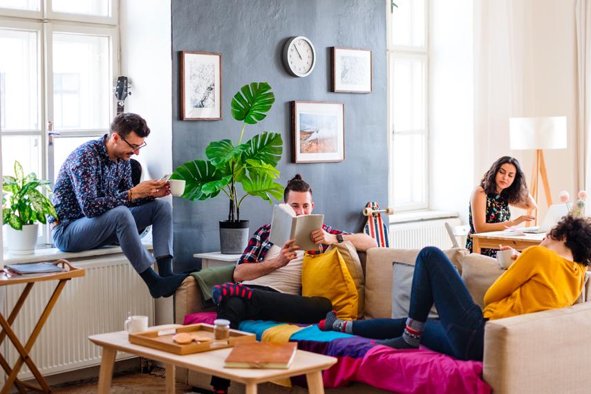 Studenti in affitto in un appartamento